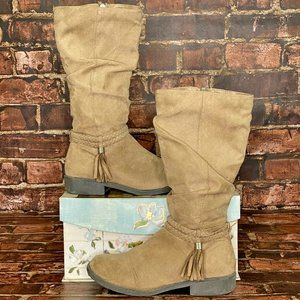 SO Faux Suede Western Style Boots
